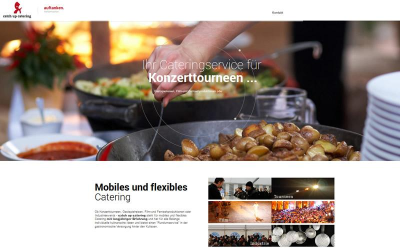 Webdesign für Catchup-Catering