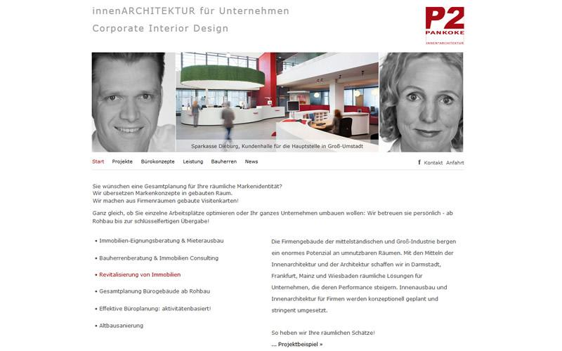 Innenarchitektur Webdesign